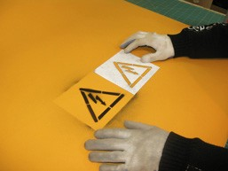 Изготовление наклеек-трафаретов