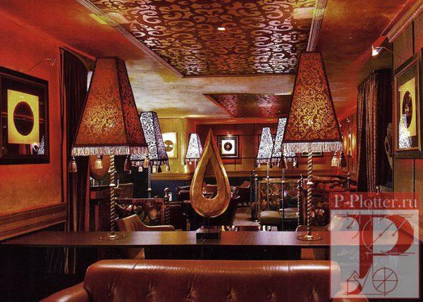 Декор трафаретами интерьера ночного клуба The Bar