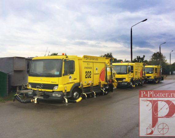 Брендирование корпоративного транспорта компании РосНефть