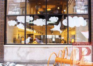 Ватра Керамика наклейки на витрину и график работ
