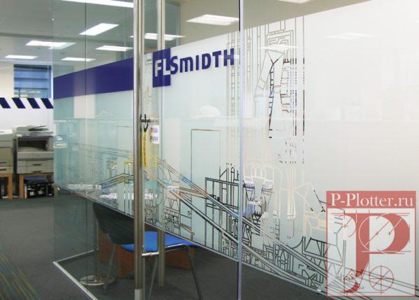 Декорирование перегородок в офисе FLSmidth