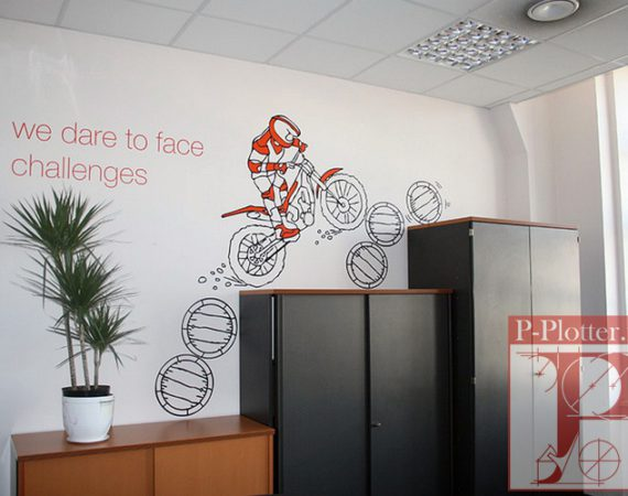 Наклейки для оформления офиса Orange Business Services