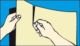 Как разделить подложку наклейки для последующего нанесения
