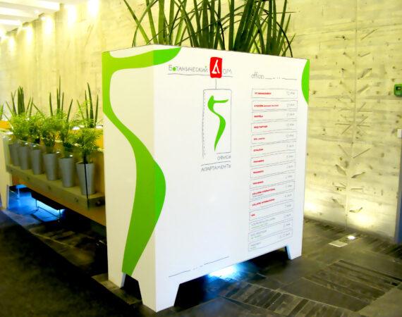 стенд навигационные наклейки в лифтовой холл